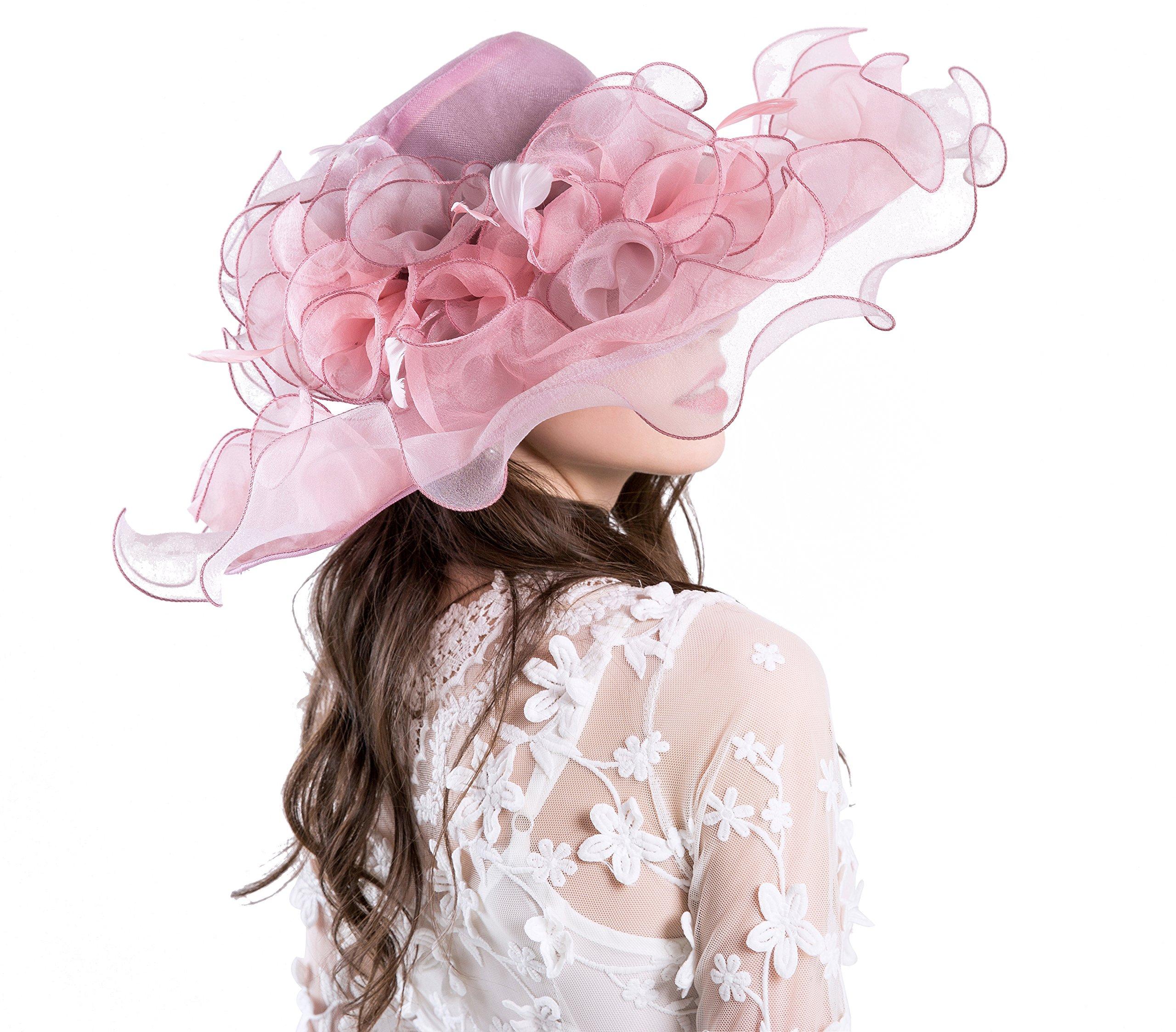 d7cf32b425821 Seven Flowers Kentucky Derby Hat Women Church Wedding Party Hats ...
