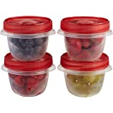 Rubbermaid TakeAlongs 1.2 Cup Twist & Seal Food Storage Container, 4 Pack