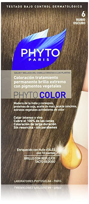phyto color permanent color treatment ultra shine with botanical pigments colour n - Coloration Phyto