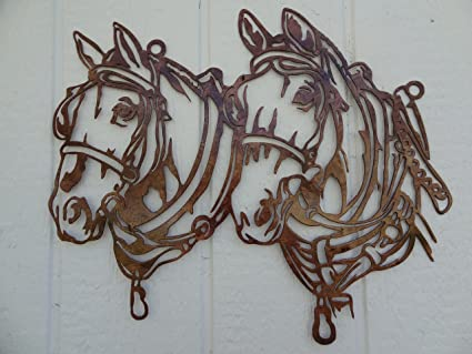 Finest Amazon.com: Say It All On The Wall Draft Horse Head Metal Wall Art  HG31