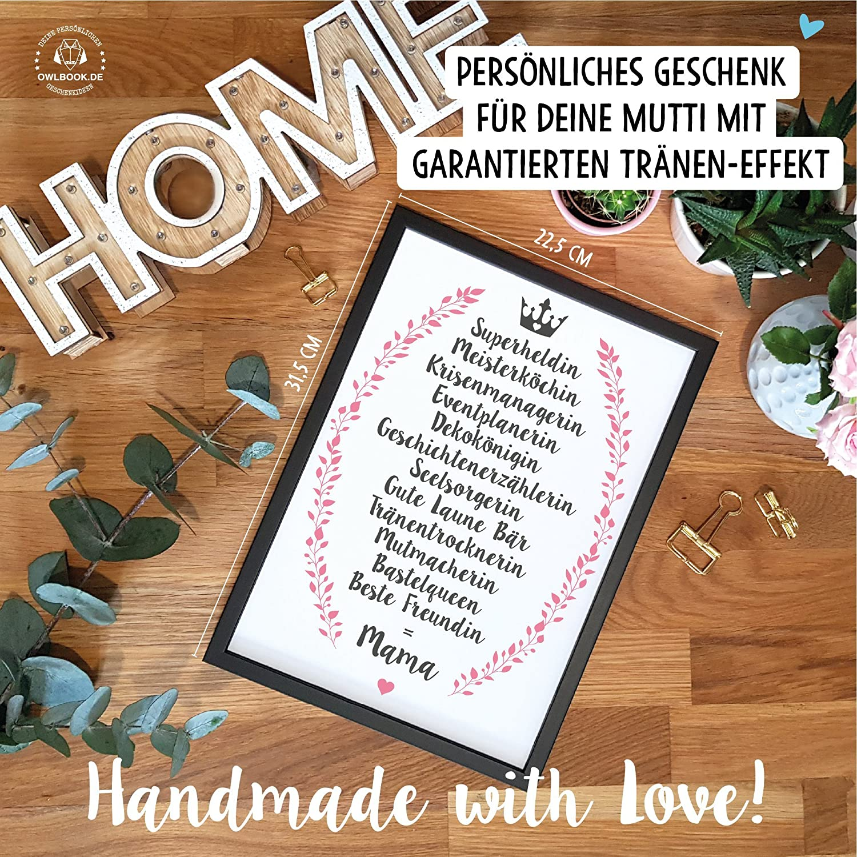 Beste Freundin Bild mit Rahmen - Geschenk Geschenkidee Mutter ...