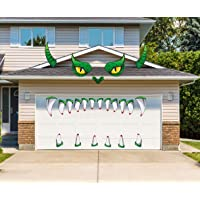 LHKSER Halloween Monster Face Decorations - Halloween Garage Archway Door Window Car Halloween Decoration