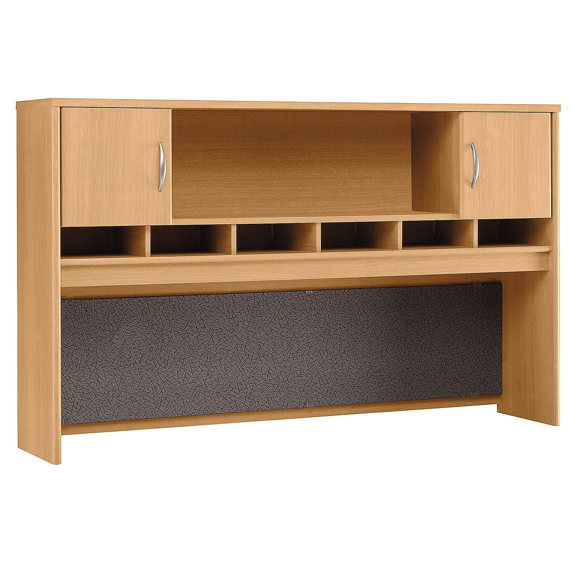 Bush Business Furniture Series C 72W 2 Door Hutch - Light Oak 71W X 15D X 43H Ergonomichome American Made TAA Compliant