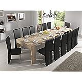 Home innovation - Table de Salle à Manger extensible jusqu'à 301 cm, Chêne Clair, Dimensions fermée : 90x49x75 cm de hauteur.