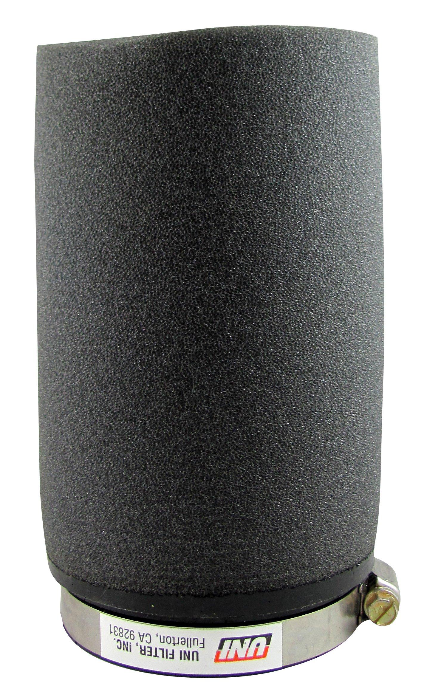 Uni Filter UP6300 Black Universal Urethane Flange Straight Clamp-On Pod Filter