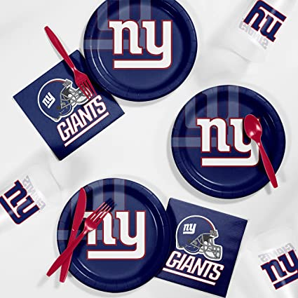 check out 85787 a59e3 Creative Converting New York Giants Tailgating Kit
