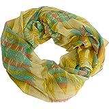 Puekee - leichter Schal Indianer Look in Pastellfarben mit INDO Prints Tuch Halstuch Herbst Winter Damen