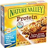 Nature Valley Protein Chewy Bar, Peanut, Almond & Dark Chocolate, 1.42 Ounce, 5 Count (Pack of 3)