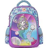 Girls Backpack for School, Children Casual Daypack Book Bag Rucksack (Mermaid Glitter)