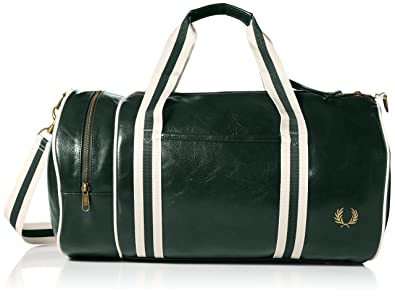 Fred Perry Classic Barrel Bags Green - One Size  Amazon.co.uk  Shoes ... ed121373399de