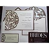 BRIDES DIY Wedding Invitation Kit Brown/Ivory