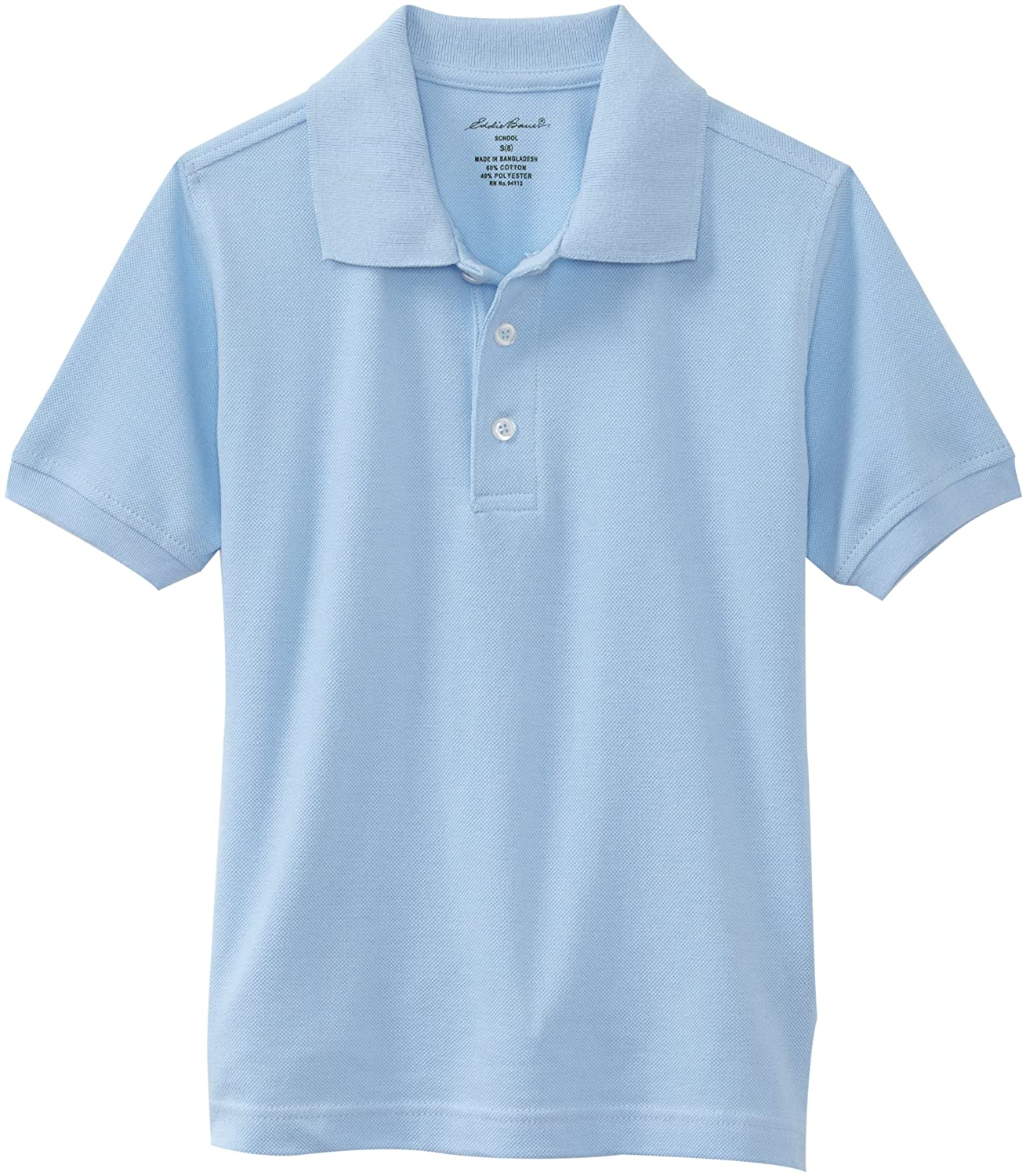 Eddie Bauer boys Big Boys' Short Sleeve Pique Polo Shirt T7HC75