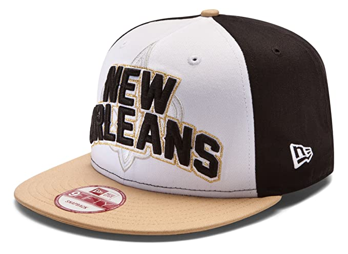 best website 5dd39 36c4b NFL New Orleans Saints Draft 9Fifty Snapback Cap, Black White Gold, One