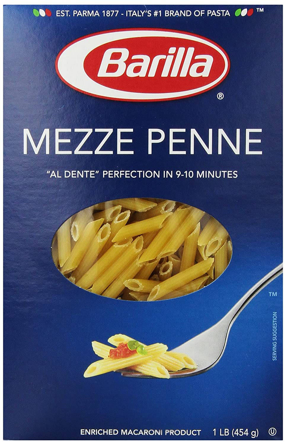 Amazon.com : Barilla Pasta, Mezze Penne, 16 Ounce : Grocery & Gourmet Food