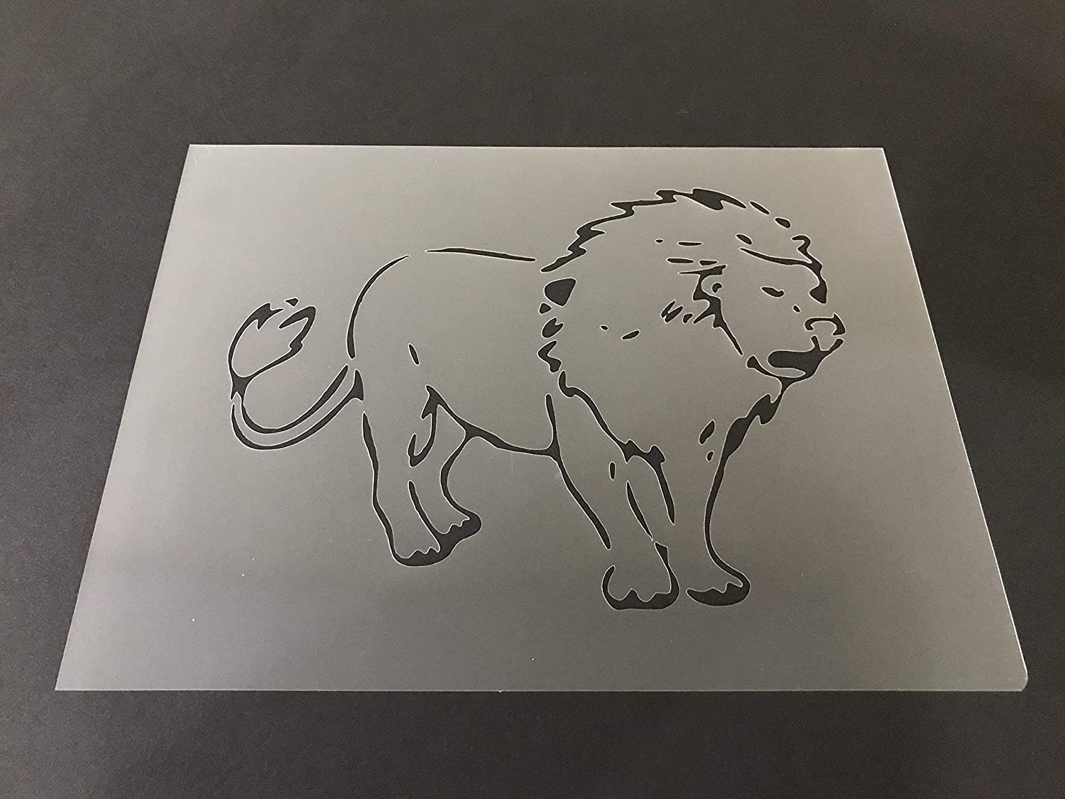 Lion Stencil #4 Reusable 10 mil Thick 8in x 10.5in sheet