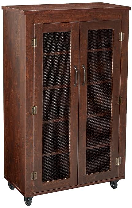 247shopathome ynj 1472c6 lorenze industrial storage cabinet vintage walnut - Industrial Storage Cabinets