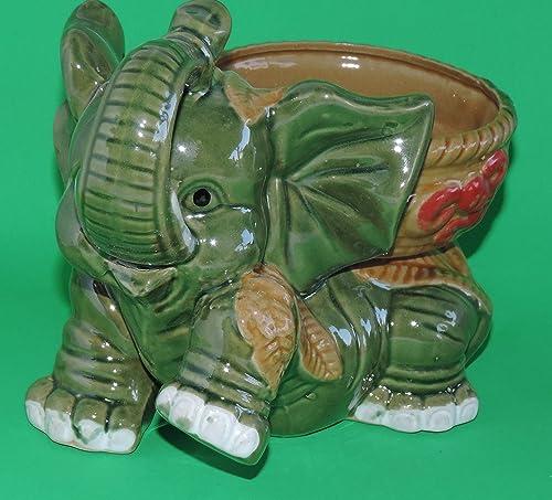 jmbamboo-Jumbo Size Elephant Ceramic Vase 7 inches Tall for Lucky Bamboo