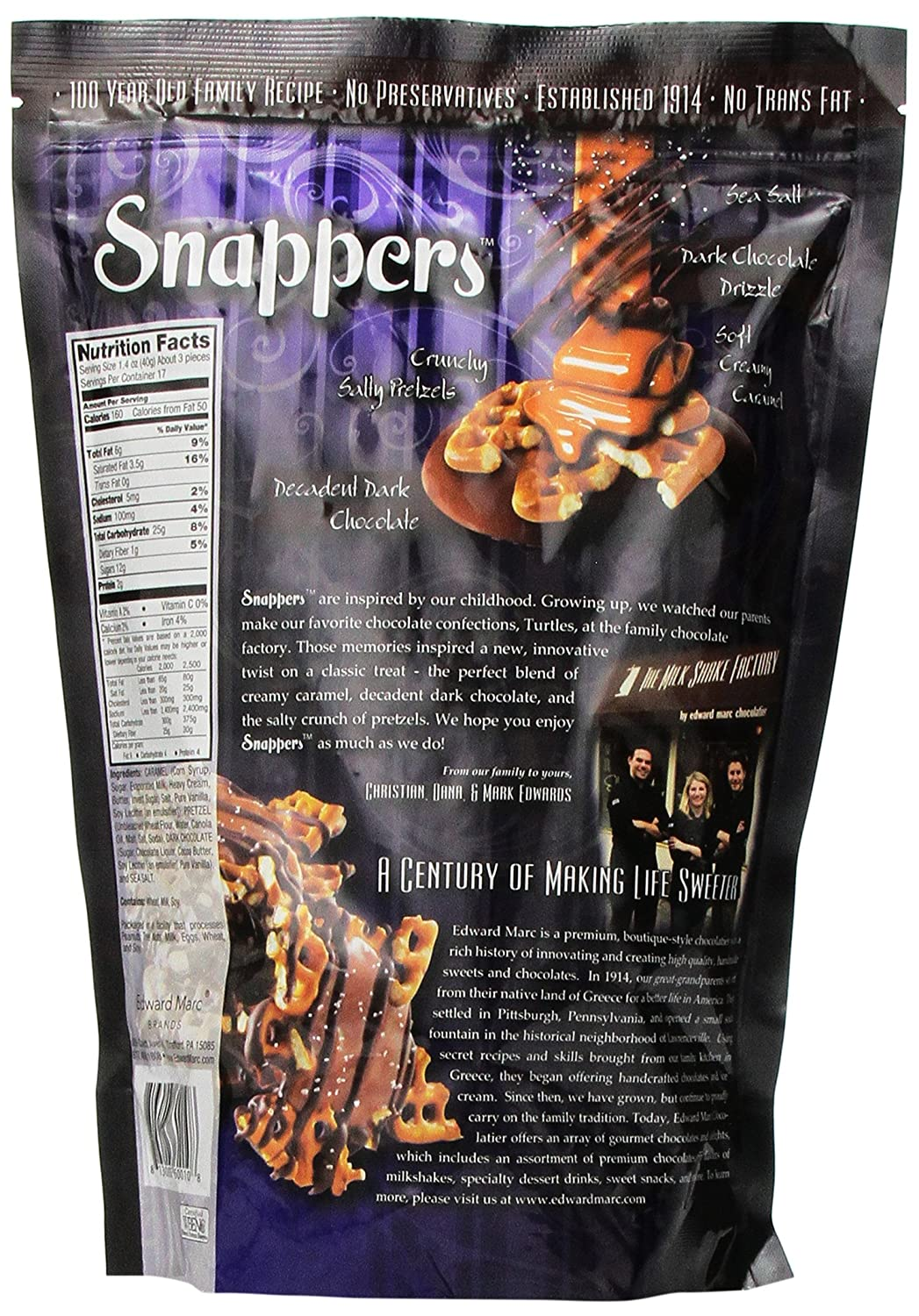 Amazon.com : Snappers Crunchy and Salty and Sweet Dark Chocolate ...