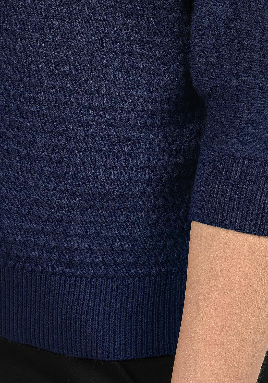 Only EULA Jersey De Punto Su/éter Sudadera De Malla Fina para Mujer con Cuello Redondo De 100/% algod/ón