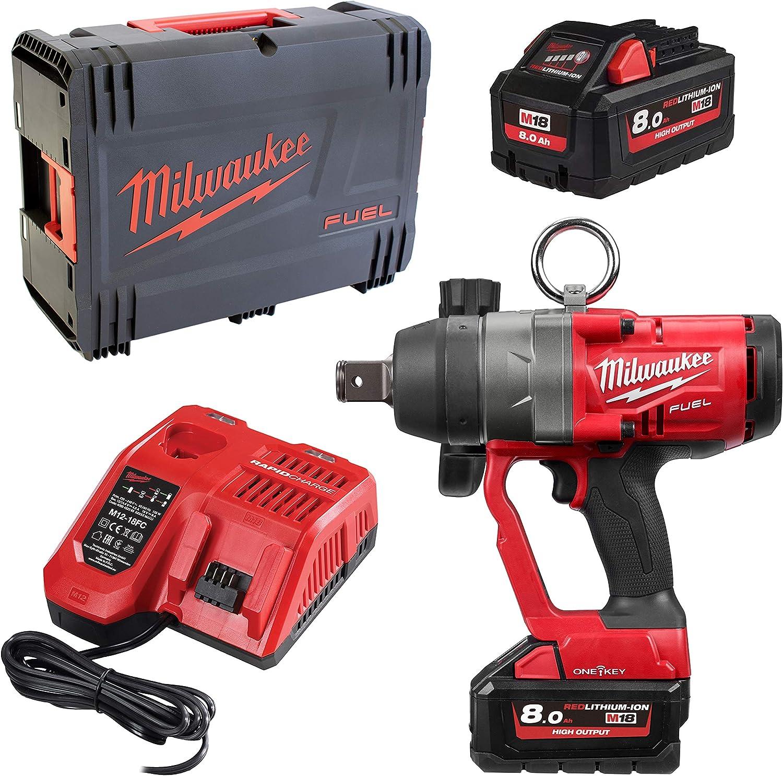 Milwaukee Schlagschrauber Fuel M18 Onefhiwf1 802x 2x 8 0 Ah Lader In Hd Box Baumarkt