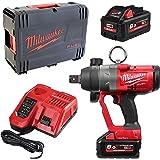 Impact Bolter Milwaukee M18 Fuel ONEFHIWF1-802X - 2 batterier 18 V 8 Ah - laddare 4933459733