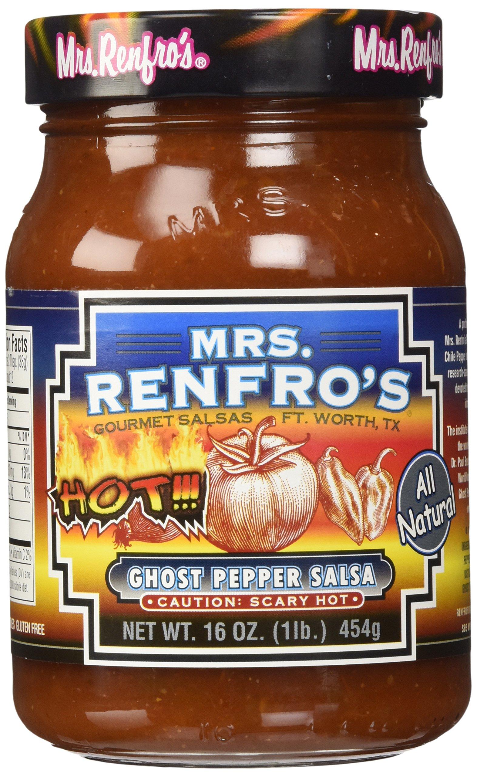 Mrs. Renfro's Salsa, Ghost Pepper, Hot, 16 oz