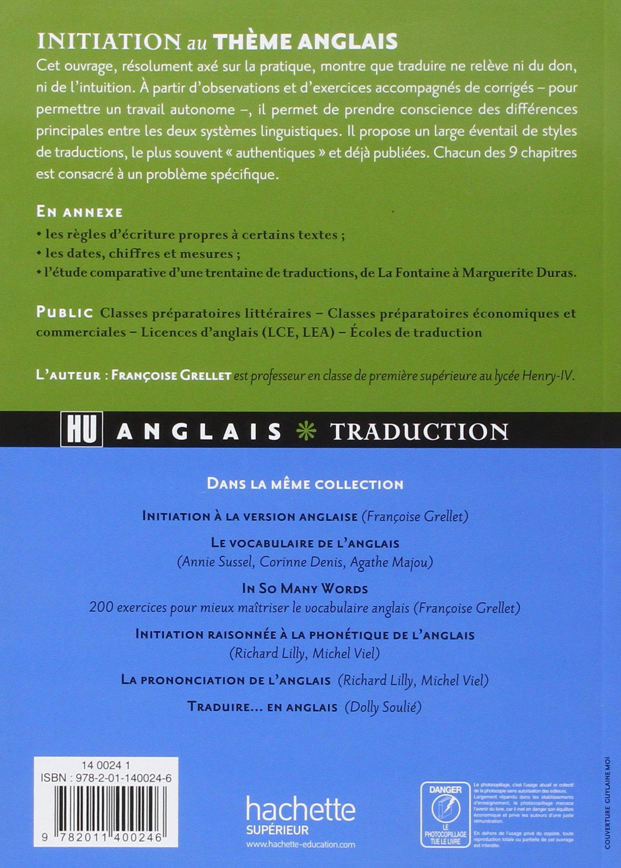 Initiation Au Tha Me Anglais 9782011400246 Amazon Com Books