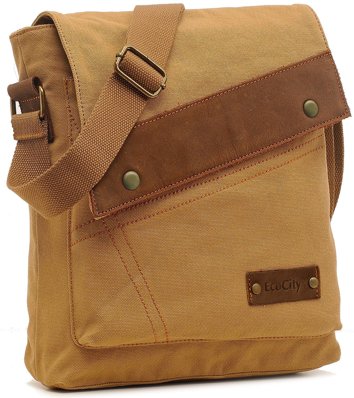 ecocity vintage small canvas messenger bags crossbody