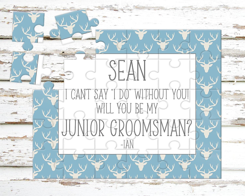 Wedding Announcement Personalized Junior Groomsman Puzzle P1166 Asking Junior Groomsman Puzzle Proposal