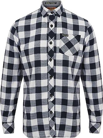 Para hombre franela compruebe camisa by Tokyo Laundry Wilding de manga larga