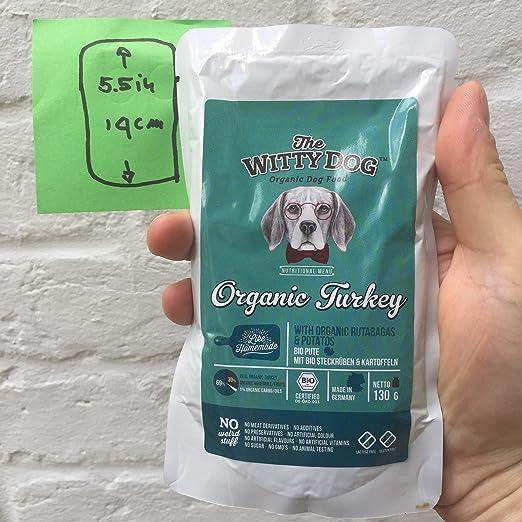The Witty Dog, Comida BIO Húmeda Para Perros, Alimento Bio Completo: Pavo con Colinabos y Patatas, Bolsas 12x130 Gr. (Alimentos Natural para Perro: Puppy ...