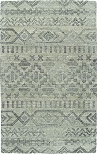 Kaleen 9 x 12 Wool Area Rug in Silver, Hand-Tufted Palladian Collection