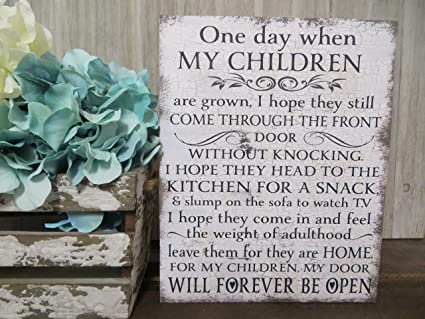 Amazon com: WoodSign MarthaFox One Day When My Children are