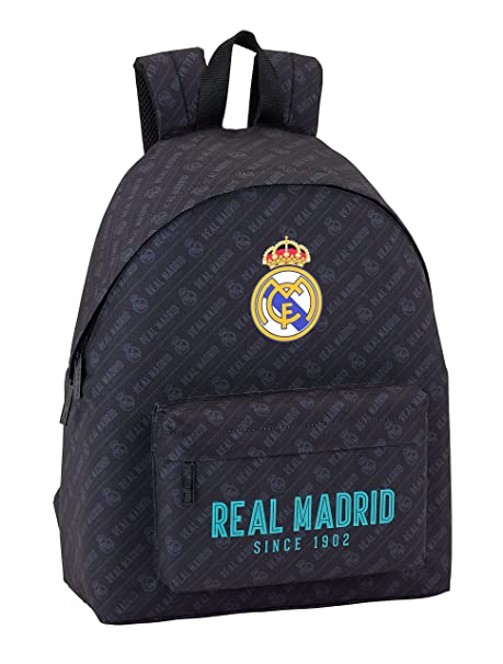 Safta Mochila juvenil Day Pack Estamp Real Madrid Black Oficial 330x150x420mm: Amazon.es: Equipaje