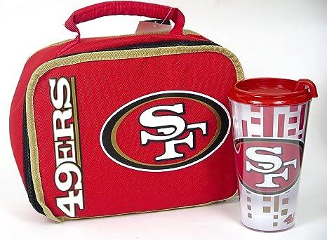 70ce8da2 Amazon.com: San francisco 49ers back to school lunch box and tumbler ...