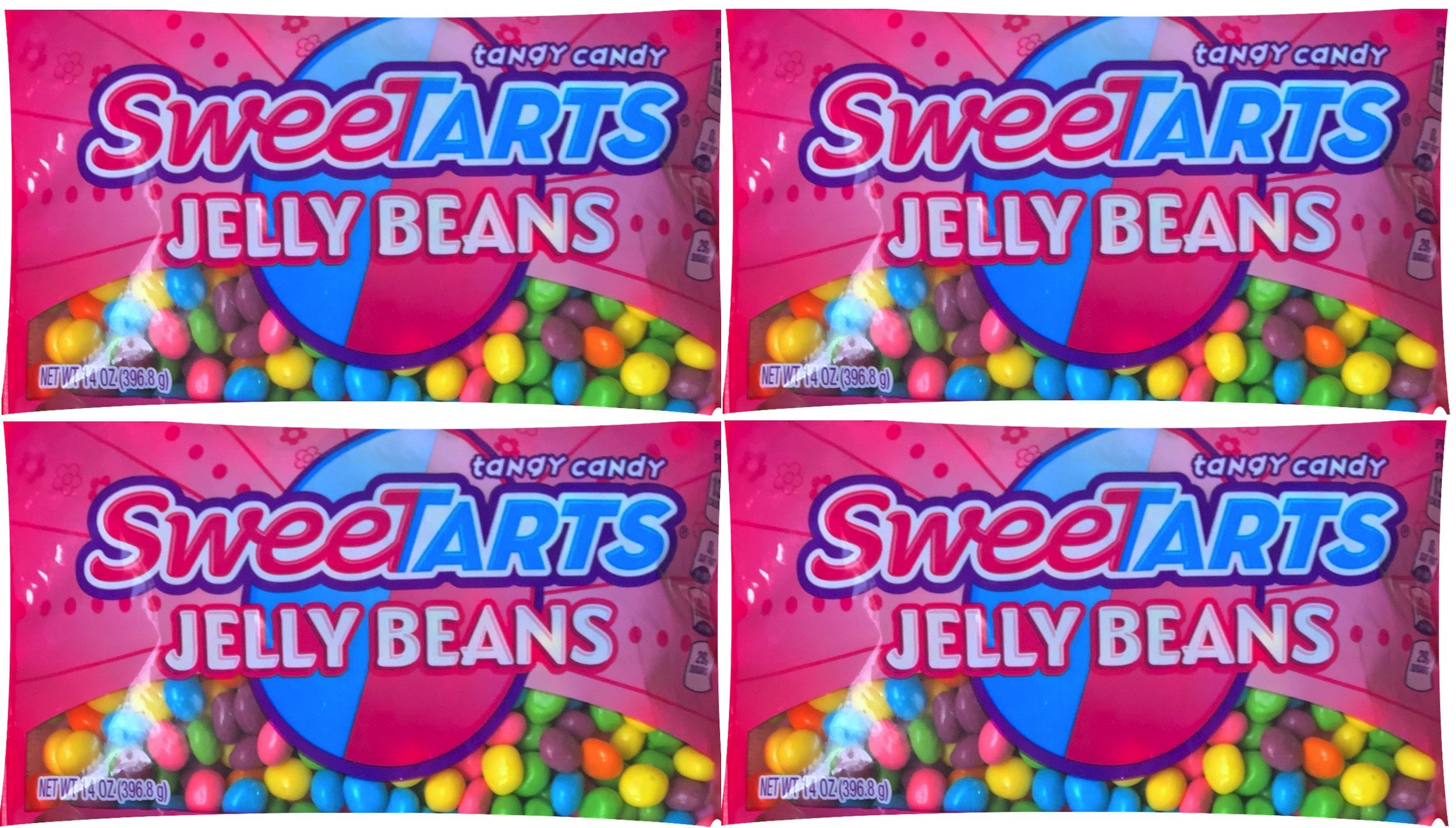 Sweetarts Easter Candy Jelly Beans Net Wt 14 Oz (pack of 4)