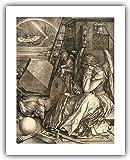 """Albrecht Durer Master Print : """"Melencholia / Melancholia I"""" (1514) — Giclee Fine Art Reproduction"""