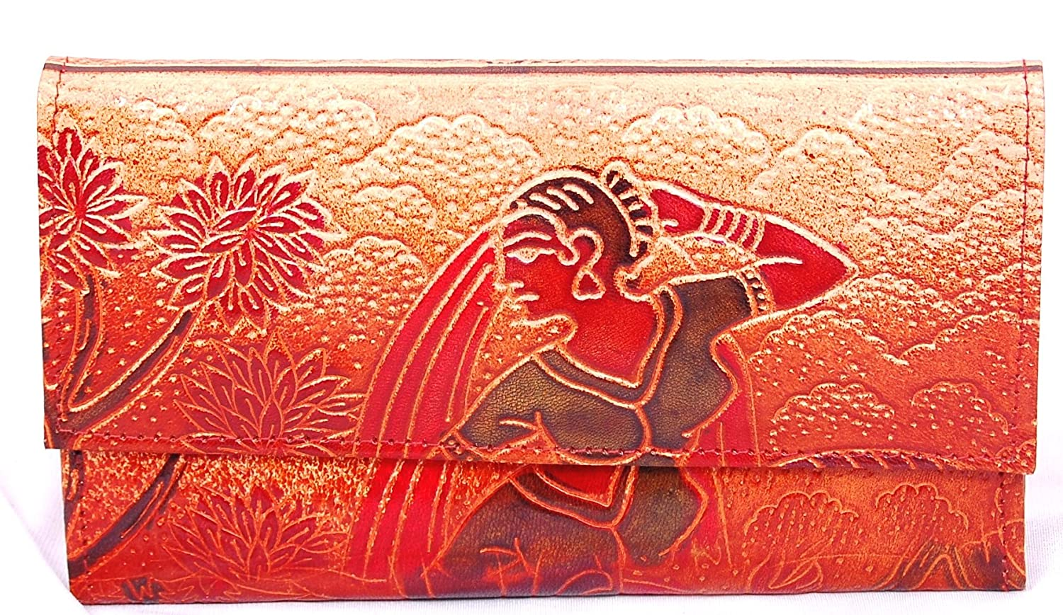 Fortune Handcrafted Leathrite Traditional Girl Block Printed Clutch