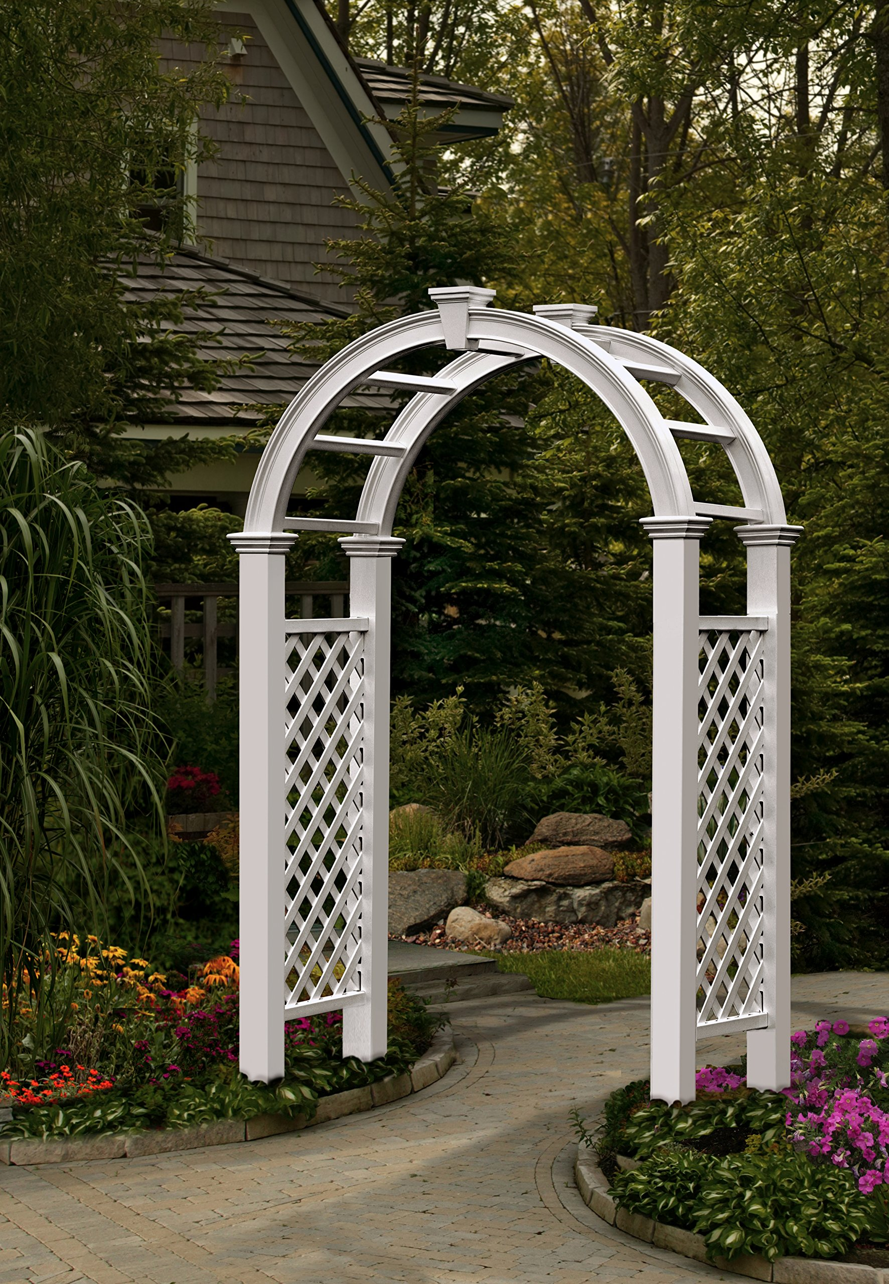 New England Arbors VA84250 Nantucket Legacy Arbor, White (102.25 x 60 x 28 inches) by New England Arbors
