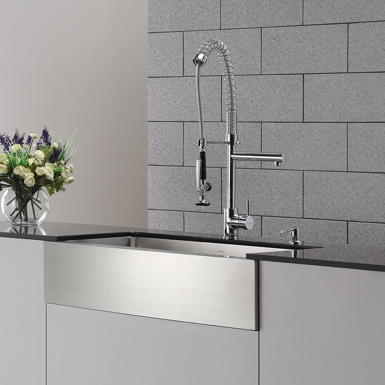Kraus KPF-1602-KSD-30CH Single Handle Pull Down Kitchen Faucet ...