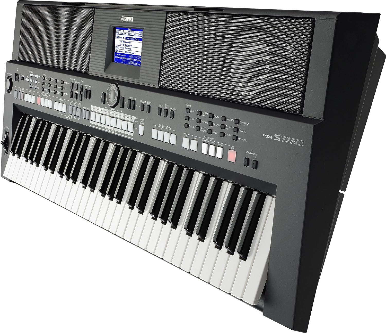 Yamaha PSR-S650 - Teclado electrónico (plástico, 61 teclas, 2 altavoces integrados, conector tipo USB), color negro