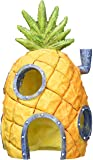 Penn Plax SpongeBob Squarepants Pineapple House with Swim Holes Aquatic Ornament, Medium