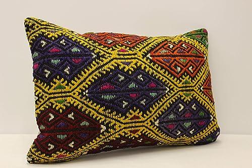 boho decor rug pillow 16x24 kilim pillow decorative pillow boho kisssen turkish pillow kilim cushion cover Cover Cushion