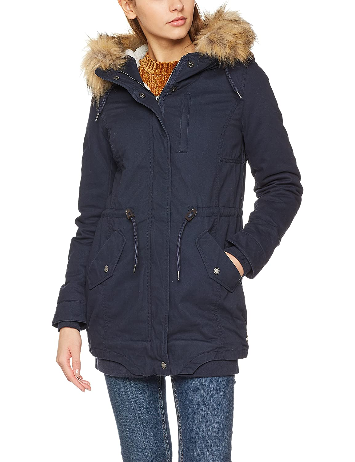 Only Onlnova Fur Long Parka Otw Donna