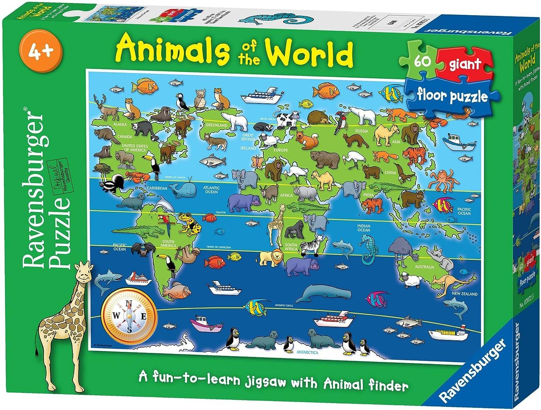 Ravensburger - Animales del Mundo, Puzzle de 60 Piezas (07072 5 ...