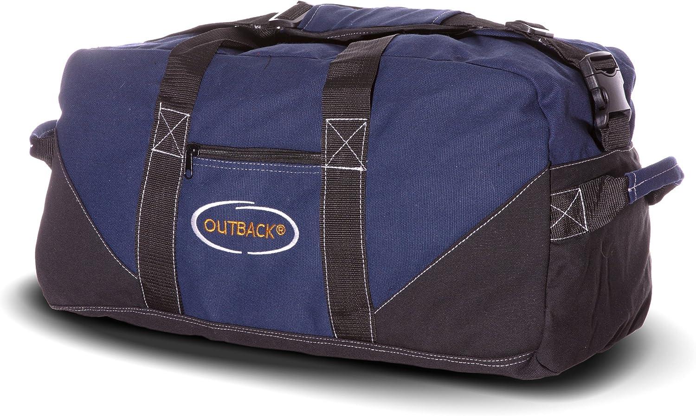 Ledmark Heavyweight Cotton Canvas Outback Gym Bag, Blue, 24