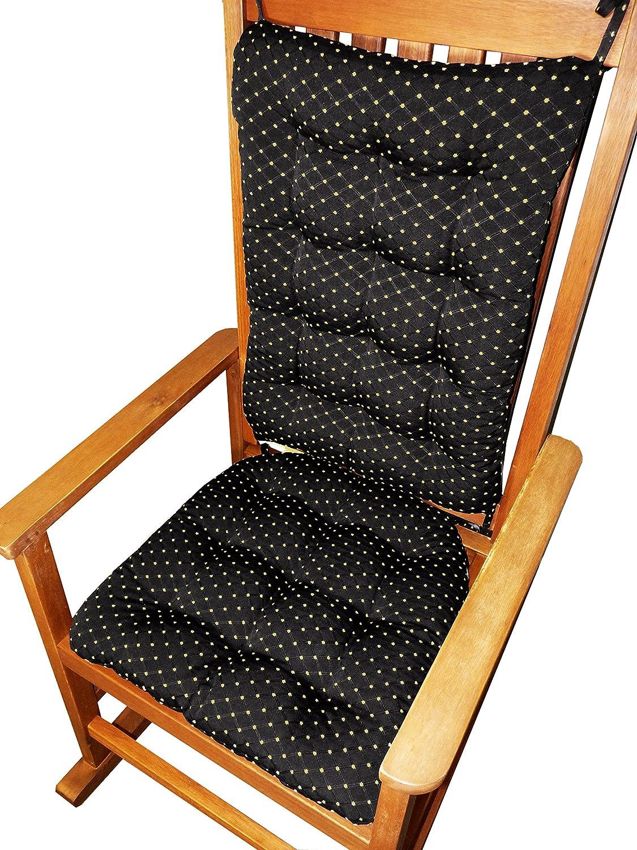 Amazon.com: Barnett Products Rocking Chair Cushions   Tiffanie Brocade   Reversible   Latex Foam Fill   Diamond Pattern (Extra Large, Black): Baby
