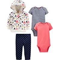 Simple Joys by Carter's 4-Piece Jacket, Pant, and Bodysuit Set Bebé-Niñas