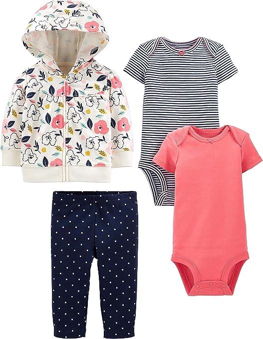 Simple Joys by Carters Girls 3-Piece Playwear Set Pants Set