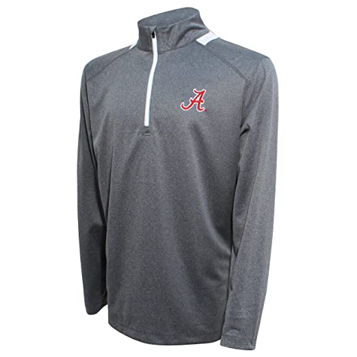 Charcoal//Gray X-Large Vesi NCAA Mens Herringbone Quarter Zip